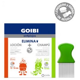 GOIBI KIT ELIMINA LOCION (125ML)+ CHAMPU (125ML) + LENDRERA +GORRO